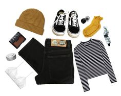 """forty-two // black & gold"" by disahster ❤ liked on Polyvore featuring Cheap Monday, Topman, T By Alexander Wang, Vans, Polder, Only Hearts, David Jones, NARS Cosmetics, Hermès and Bobbi Brown Cosmetics"