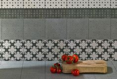 Azulej-Mutina-11, Kitchen, Living room, Public spaces, Bathroom, Patchwork style style, Designer style style, Patricia Urquiola, Concrete effect effect, Glazed porcelain stoneware, wall & floor, Matte surface, Rectified edge