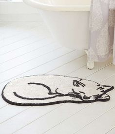 "Aw, It's a Pawsitively Adorable Bath Mat | Community Post: 17 Fab Things For The Hip And Cool ""Crazy Cat Lady"" #CatLady"