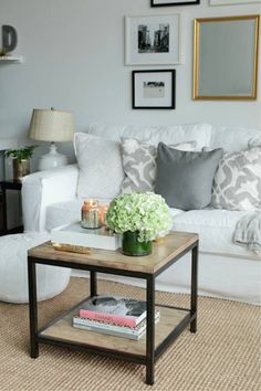 comfortable living room that's great for a couple {not too girly}