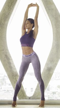 1974dfc68e Karina Elle working out in the new Gymshark Flex leggings. Form hugging and  figure flattering