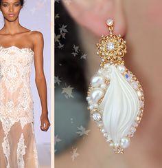 Shibori silk Earrings - Designed by Serena Di Mercione