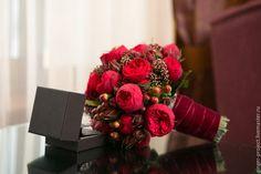 Свадебный букет невесты из живых цветов от свадебного декоратора