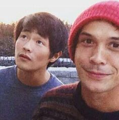 The 100 cast || Christopher Larkin and Bob Morley || Monty Green and Bellamy Blake