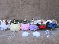 Spring/Christmas flower fairy dolls fairy ornaments handmade