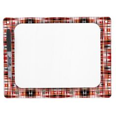 Black Gold Red & White Pattern   Dry Erase Board With Keychain Holder - red gifts color style cyo diy personalize unique
