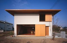 幕張の家|有田佳生建築設計事務所|Yoshitaka Arita Architect Office Japan Modern House, Modern Tiny House, Modern House Design, Minimal Architecture, Modern Architecture House, Interior Architecture, Modern House Facades, Stucco Exterior, Hip Roof