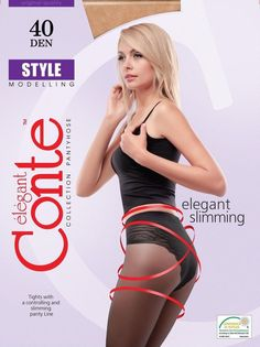 Conte elegant  Modeling Tights Pantyhose STYLE 40 DEN