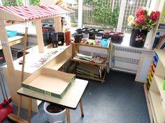 Themahoek tuincentrum voor kleuters, kleuteridee, juf Petra , role play garden center for preschool