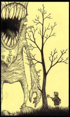 john kenn mortensen - monster illustrations on post-its