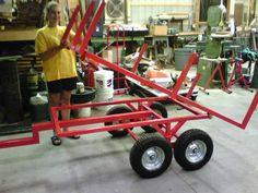 Resultado de imagem para home made dump cart tractor Welding Jobs, Diy Welding, Metal Welding, Welding Table, Atv Trailers, Dump Trailers, Trailer Plans, Trailer Build, Trailer Diy