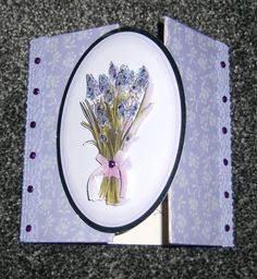 Gate fold card with Foiled topper front