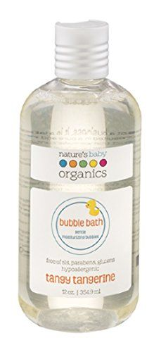 Nature's Baby Organics Bubble Bath, Tangy Tangerine, Cruelty Free, Gentle on Skin, 12 oz Baby Skin Care, Baby Care, Body Shampoo, Thing 1, Natural Baby, Bubble Bath, Organic Baby, Cruelty Free, Health And Beauty