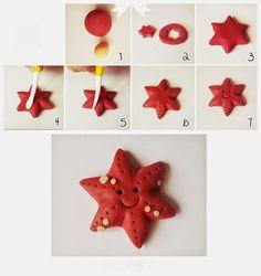 Criações com Pasta de Açúcar -Estrela do mar
