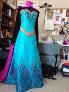 Frozen Elsa coronation gown cosplay