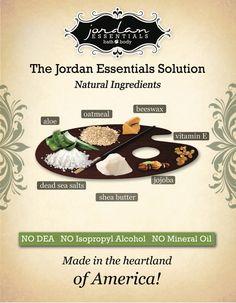 All natural safe ingredients by Jordan Essentials