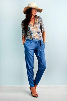 Exclusive! Summer jumpsuit Cotton jumpsuit Denim jumpsuit by Florinio on Etsy
