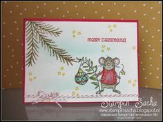 Stampin' Sacha - Stampin' Up! - Autumn-Winter Catalogue 2016 - Merry Mice - Christmas Pines - Pretty Pines Thinlits - Soft Sky - Pool Party - Real Red - Sahara Sand - Old Olive - Emerald Envy - Daffodil Delight - Real Red Glitter Emboss Powder - Copper Emboss Powder - Christmas - #stampin_sacha - #stampinup