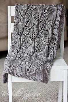 Leafy Baby Blanket by Leyla Alieva **FREE PATTERN**  ~PinDIv@~