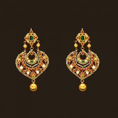 Gold Antique chand bali (108A45083) | Vummidi Bangaru Jewellers