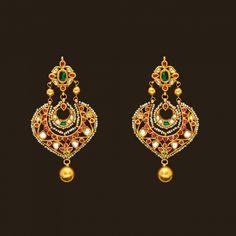 Gold Antique chand bali (108A45083) | Vummidi Bangaru Jewellers