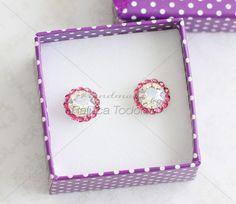 45 Cercei - Elegant Chaton Pink