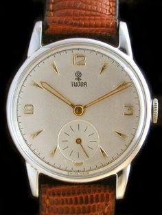 Tudor Watch, c.1940. Rolex timing, classic styling. Of course I have one