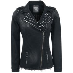 Studded Jeans Jacket - Tussenseizoensjas van Rock Rebel by EMP