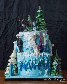 Disney Frozen Themed Cake | Flickr - Photo Sharing!