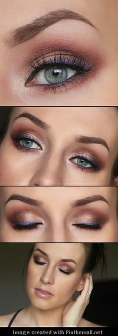 Rust & Violet Liner Makeup Tutorial