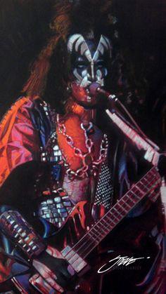 KISS: Classic Gene Simmons by SteveStanleyArt.deviantart.com on @deviantART