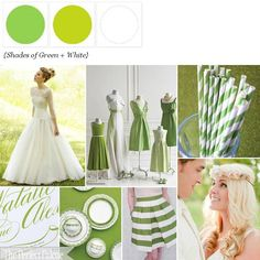 A Fresh Palette of Green + White