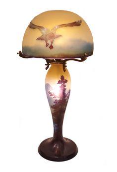 Lámpara de Emile Gallé modelo águilas
