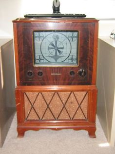 Vintage Console Television with Indian Intermission Screen!