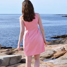 Things that go together: pink & the sea. (Shop our Pink & Gold Zipper Dress via the link in our bio) #musthave #shop #dresses #madeinusa #madeinamerica #usa #summer #summertime #sea #beachbabe #beachlife #newengland #boston #adventure #style #fashion #instafashion #ootd #loveit