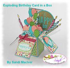 Stampin Up Cycle Celebration Card in a Box - Stamping With Sandi - Sandi MacIver, Stampin Up! Demonstrator