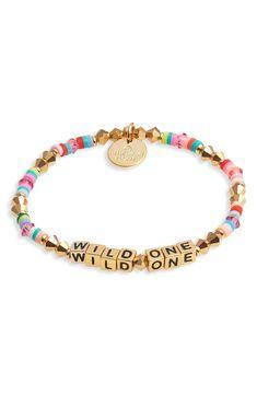 Stretch Bracelets, Beaded Bracelets, Wild Ones, Girl Gang, Bracelet Making, Cool Girl, Nordstrom, Crystals, Words
