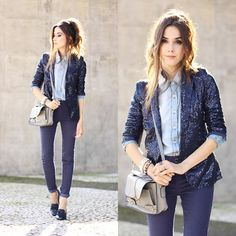 Get this look: http://lb.nu/look/7433792 More looks by Flávia Desgranges van der Linden: http://lb.nu/fashioncoolture Items in this look: Iclothing Blazer, Lunender Pants #chic #classic #preppy