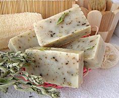 Osvěžující mátové olivové mýdlo