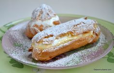 Sweets Recipes, Cookie Recipes, Romanian Desserts, Choux Pastry, Creme Caramel, Food Cakes, Food And Drink, Easy Meals, Breakfast