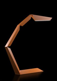 'Phalanx' LED table lamp by Michael Samoriz. Consists of five moveable segments including one heavier base segment and one containing bright LED lights. Simply move them to adjust the lamp's shape or the direction of the light