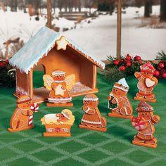 Gingerbread Nativity Set - TerrysVillage.com