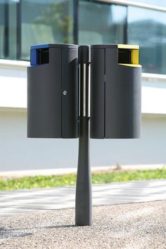 Public trash can / galvanized steel / stainless steel / recycling OR'A Concept Urbain