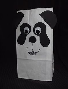 Panda party favor bag