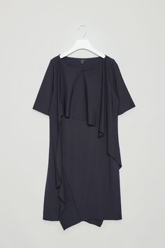 COS image 4 of Dress with draped layer in Navy