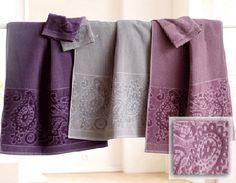 Bathroom Decorating Ideas, Romantic Gray-Purple Color Combination
