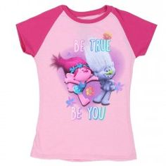 8948f736b Dreamworks Trolls Be True Be You Pink Girls Short Sleeve Shirt Short Girls,  Girls 4