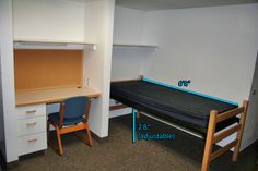 Richards Hall *Renovated* - Room Dimensions.  (Shared - 10'x15') (Private - 10'x15')