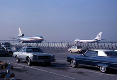 American Airlines DC-10 and 747 at LAX ,1976