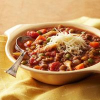 Italian-Style Lentil Soup - diabetic friendly                  (but no ratings yet..except that this site has its recipes tested by the better home and gardens test kitchen)